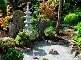 lawn u0026 garden deluxe asian style backyard rock garden design
