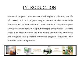 memorial programs templates memorial program templates a tribute to the of soul