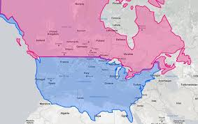 map use 5 interesting maps that use the united states as a reference point