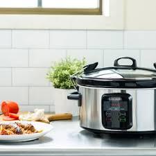 wifi cooker wifi enabled 6 quart slow cooker black decker