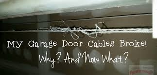 Garage Door Counterbalance Systems by My Garage Door Cables Broke Why And Now What