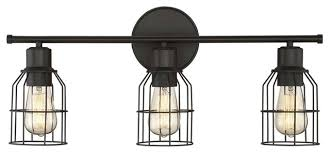 Felix 4 Light Cage Vanity - trade winds 3 light industrial wire bath bar oil rubbed bronze
