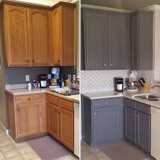 painting kitchen cabinet doors before and after updated oak kitchens kitchen renovation kitchen