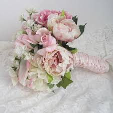 blush satin ribbon shop satin ribbon bouquet on wanelo