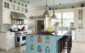 Blue Kitchen Island Blue Kitchen Island Cottage Kitchen Bhg