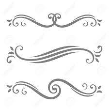 collection of vector calligraphic lines ornaments or dividers