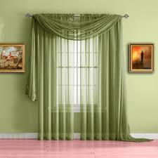 Sheer Scarf Valance Window Treatments Warm Home Designs Sage Green Window Scarf Valance Sheer Sage