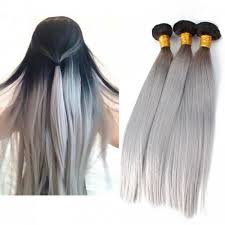 silver hair extensions 26 inch silver ombre hair extension