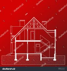home blueprint vector illustration house project house blueprint stock vector