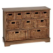 Wicker Storage Chest Of Drawers Chelsea Brown Rattan 10 Basket Storage Chest Christmas Tree