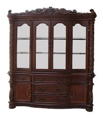 cabinet antique dark wood vendome china cabinets and hutches for
