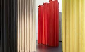Designer Drapes Doshi Levien Creates Fabirc U0027pilotis U0027 With Kvadrat Wallpaper