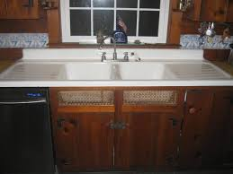Vintage Standard Sanitary Double Basin Double Drainboard - Cast iron kitchen sinks with drainboard