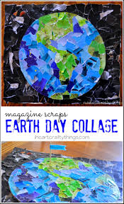 earth day collage i heart crafty things