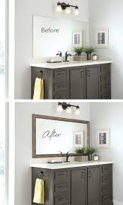 best 25 framing mirror in bathroom ideas on pinterest framed
