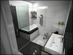 Blue And Black Bathroom Ideas by Small Bathroom With Blue Wall Tiles Asnd Mozaik Blue And White Tub