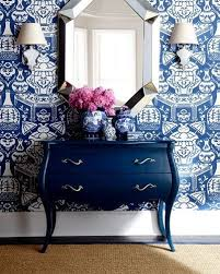 Wallpaper Interior Design by Best 25 Blue And White Wallpaper Ideas Only On Pinterest Blue