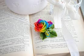 tie dye roses rainbow pendant tie dye roses pendant polymer clay