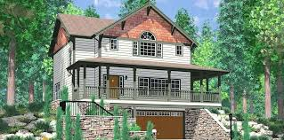 basement home plans walkout home plans two story house plan with walkout basement fresh