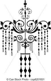 Free Chandelier Clip Art Vector Clip Art Of Chandelier Stock Vector Illustration Black