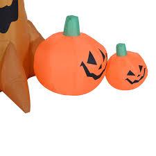 homcom halloween inflatable tree w pumpkins led lights aosom co uk