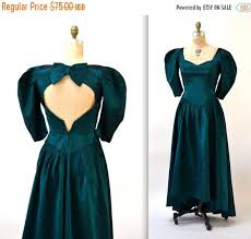 80s prom dress size 12 vintage 80s prom dress size small medium metallic green vintage