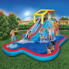 water slides for backyard inflatable bounce house pool games kids
