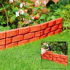 new stone brick cobbled effect plastic garden edging plant borders