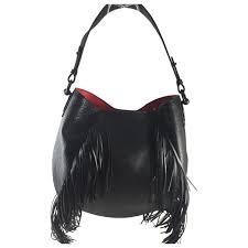 black leather christian louboutin handbag vestiaire collective