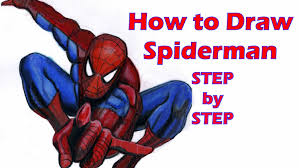 how to draw spiderman step by step youtube
