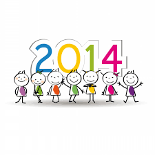 latest printable clip art of happy new year 2014 for kids