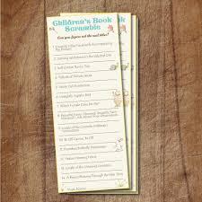 storybook baby shower children u0027s book scramble game