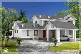 bedroom house gable roof type design kerala idea building plans