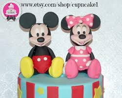 mickey and minnie cake topper mickey mouse birthday fondant cake toppers birthday wikii