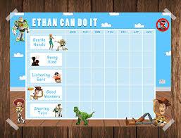 toy story toddler reward chart behaviour islakatedesigns