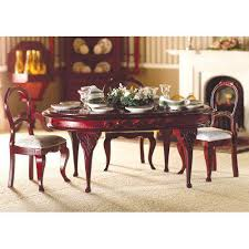 Queen Anne Dining Room Furniture by The Dolls House Emporium Queen Anne Oval Dining Table Mahogany Finish