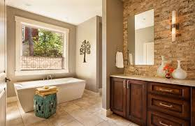 Split Face Stone Backsplash by Bathroom Stone Backsplash Design Ideas U0026 Pictures Zillow Digs