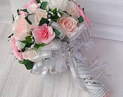 wedding flowers cheap cheap bouquet etsy