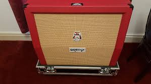 Orange Cabinet 4x12 Orange Ppc412a 4x12 240w Angled Guitar Cabinet Blood Orange Reverb
