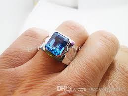 blue man rings images 2018 men ring blue topaz ring 925 sterling silver plated 18k white jpg