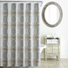 Brown And White Shower Curtains Buy Aqua Shower Curtains From Bed Bath U0026 Beyond