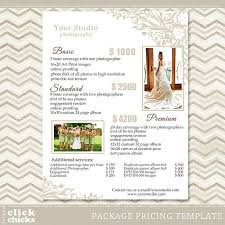 wedding photography pricing photography package pricing list template wedding packages list