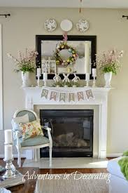Easter Fireplace Mantel Decorations by Adventures In Decorating 2015 Spring Great Room