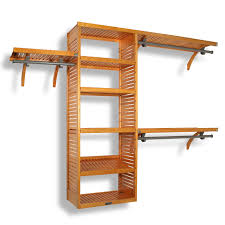 Shelf With Clothes Rod Interiors Excellent Home Closet Wood Closet Shelves And Wood