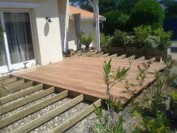 terrasse suspendue en bois incroyable pose d une terrasse en composite 4 terrasse bois ou