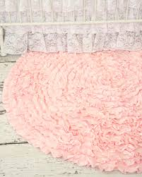 Pottery Barn Nursery Rugs by Light Pink Ruffle Rug Vintage Inspired Nursery And Ruffles