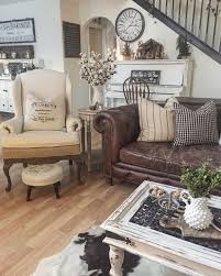 Decorating With Leather Furniture Living Room Interior Design Farmhouse With Leather Living Room Modern