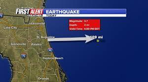 Map Of Daytona Beach Earthquake Strikes Off Coast Of Daytona Beach Wjax Tv