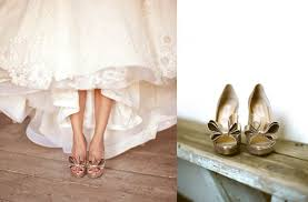 gold shoes for wedding bow wedding shoes