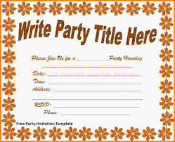 free party invitation template printable birthday invitations